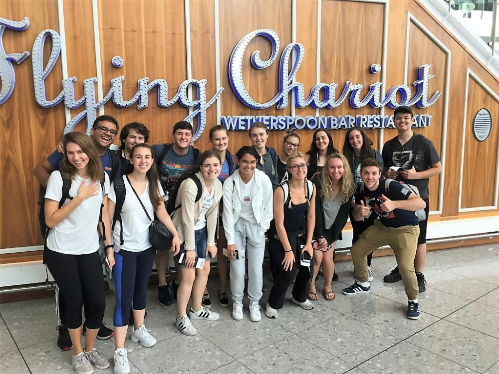 Group of students in the UK