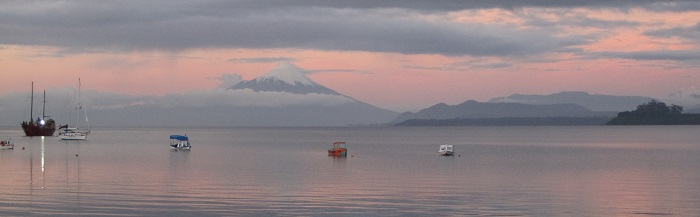 panoramic landscape of chile